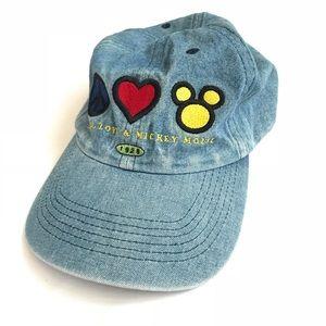 Vintage 90s Mickey Mouse Denim Dad Cap Hat